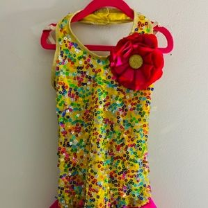 Girl's Yellow Weissman Dance Costume